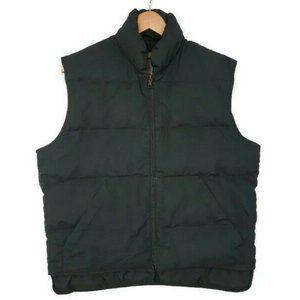 Eddie Bauer Vintage Green Goose Down Puffer Vest M
